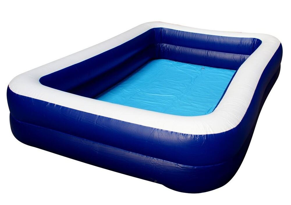 Super large deluxe family size swimming paddling 8 person for Garden swimming pool ebay