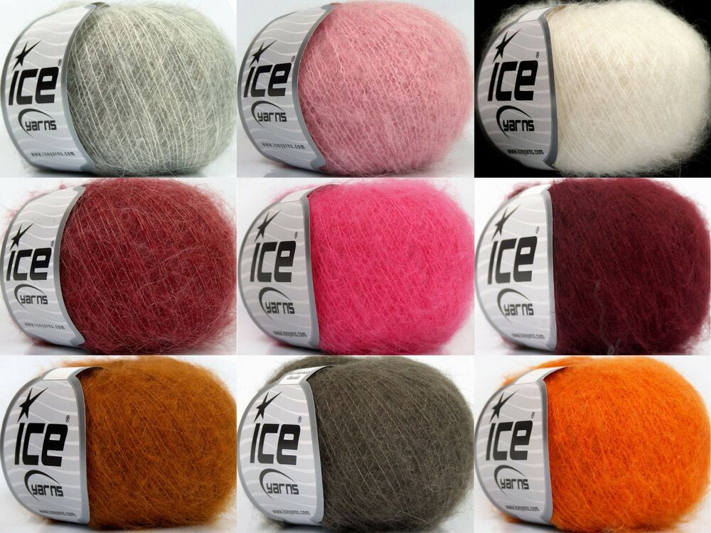 8,80€/100g Lace Kid Mohair Wolle Stricken/Häkeln Classic 70%Kid ...