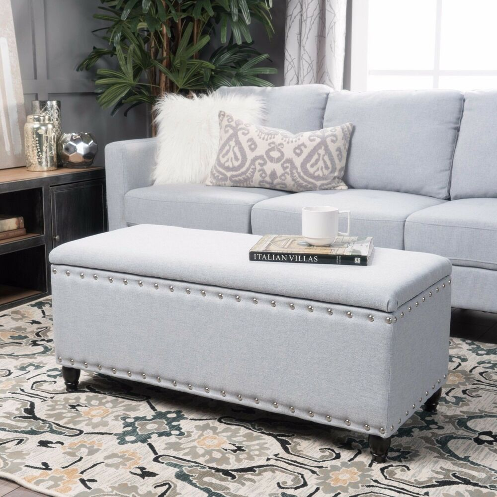 Dynasty Fabric Storage Ottoman Ebay