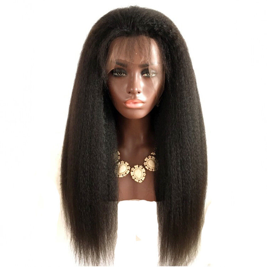 Feibin Lace Front Wigs For Black Women Yaki Straight Long ...