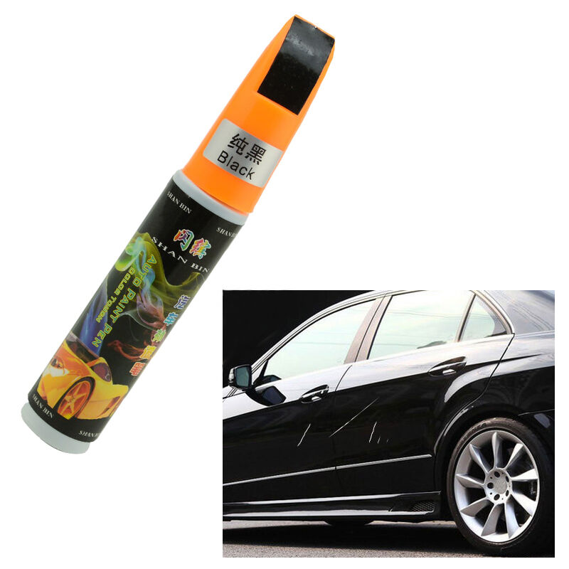 voiture noir rayures reparation retouche de peinture stylo repair paint pen ebay. Black Bedroom Furniture Sets. Home Design Ideas