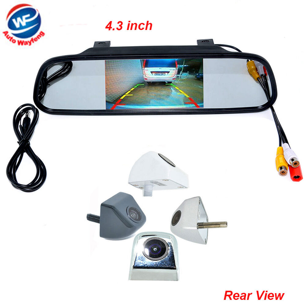4 3 Quot Car Tft Lcd Monitor Mirror Hd Ccd Reverse Rear View