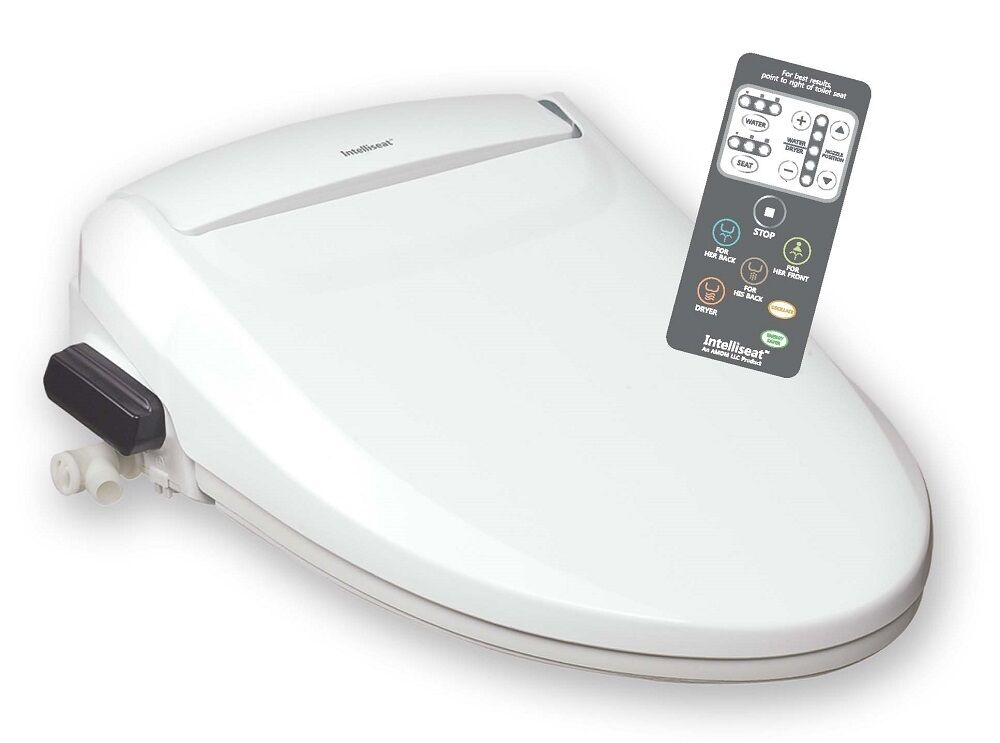 intelliseat bidet heated water warm toilet seat isb 200 with remote ebay