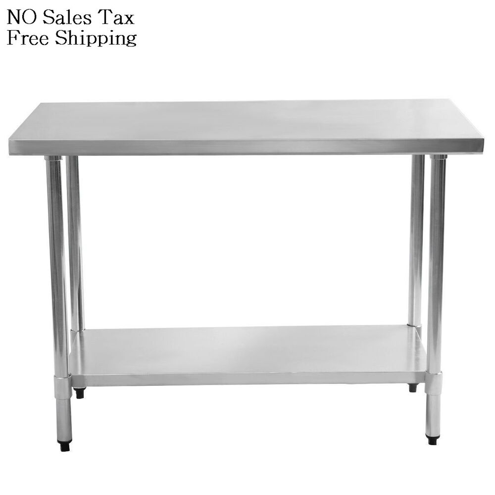 Flip And Fold Rolling Table Stainless Steel Wood: 24 In. X 48 In. Stainless Steel Utility Table Kitchen Work