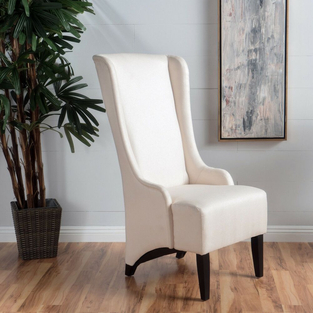 High Dining Room Chairs: Sheldon Traditional Design High Back Fabric Dining Chair