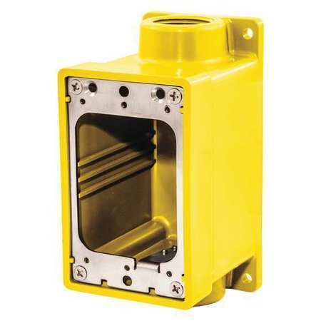 "4 4 Weatherproof Electrical Box: HUBBELL HBL60CM83A Weatherproof Electrical Box,3/4"" Hub Sz"