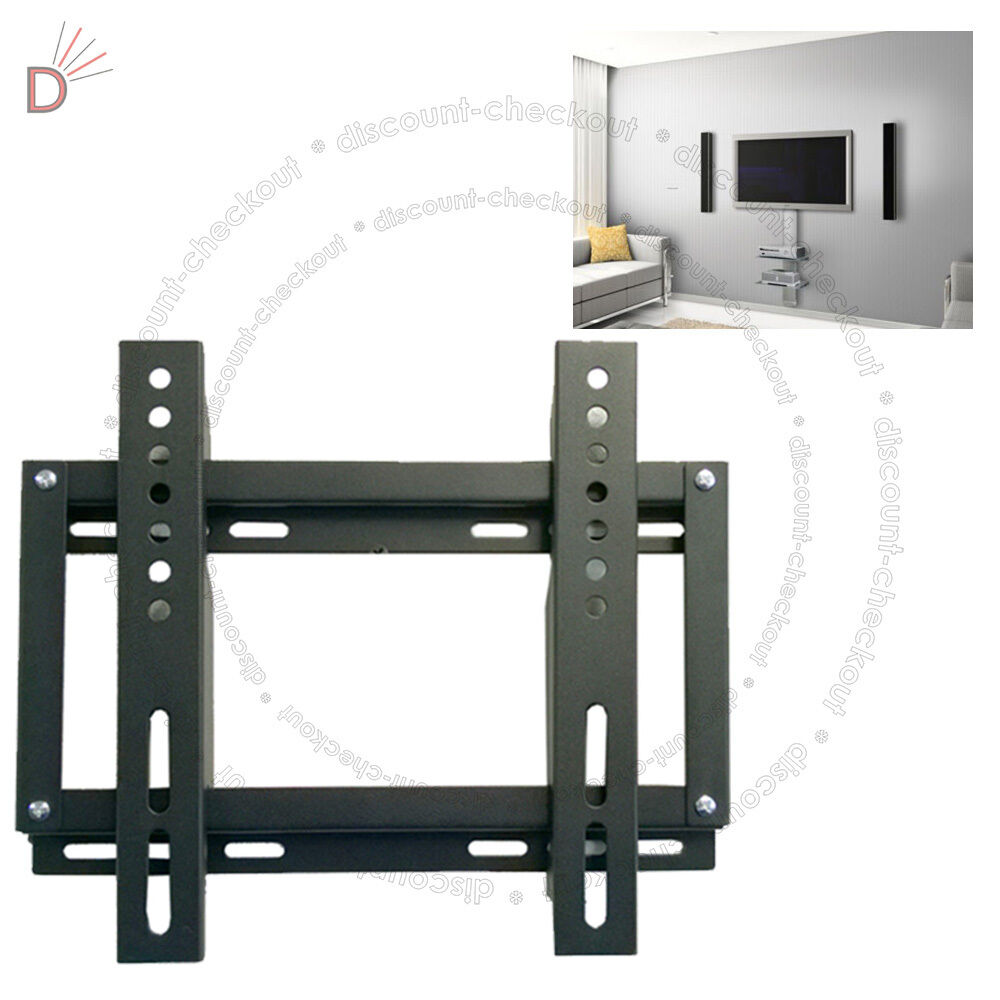 tv wall mount fixed wall bracket 13 27 led lcd vesa 50 75 100 200 ebay. Black Bedroom Furniture Sets. Home Design Ideas