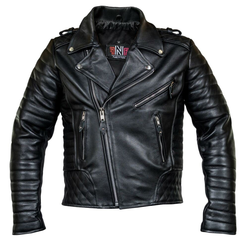herren motorrad lederjacke biker jacke motorradjacke mit protektoren gesteppt ebay. Black Bedroom Furniture Sets. Home Design Ideas