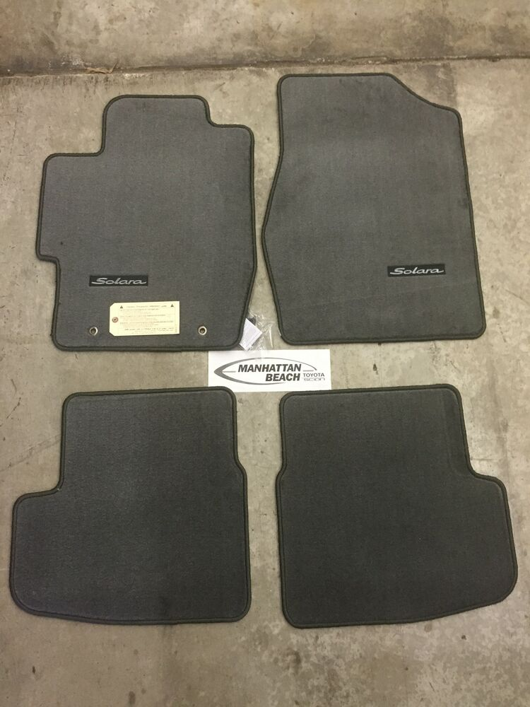 2004 2008 solara convertible carpet floor mats charcoal for Original toyota floor mats
