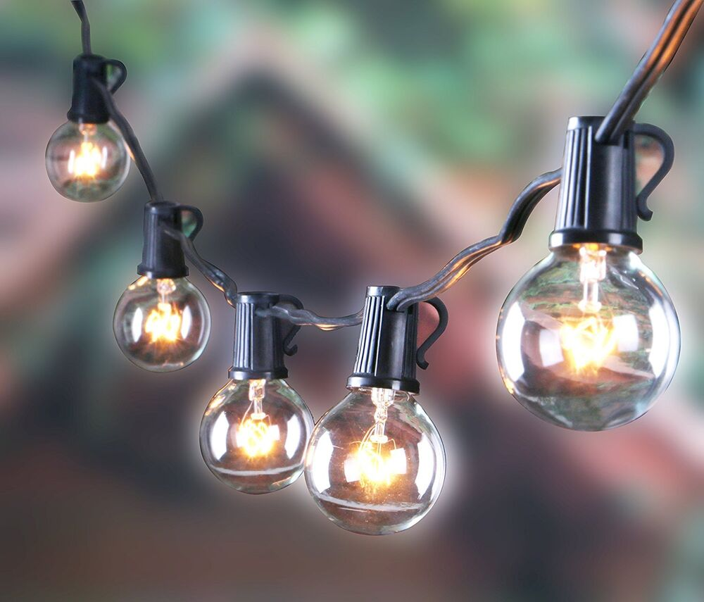 Outdoor String Lights Hardware: Outdoor G40 String Lights, Vintage Backyard Patio Lights