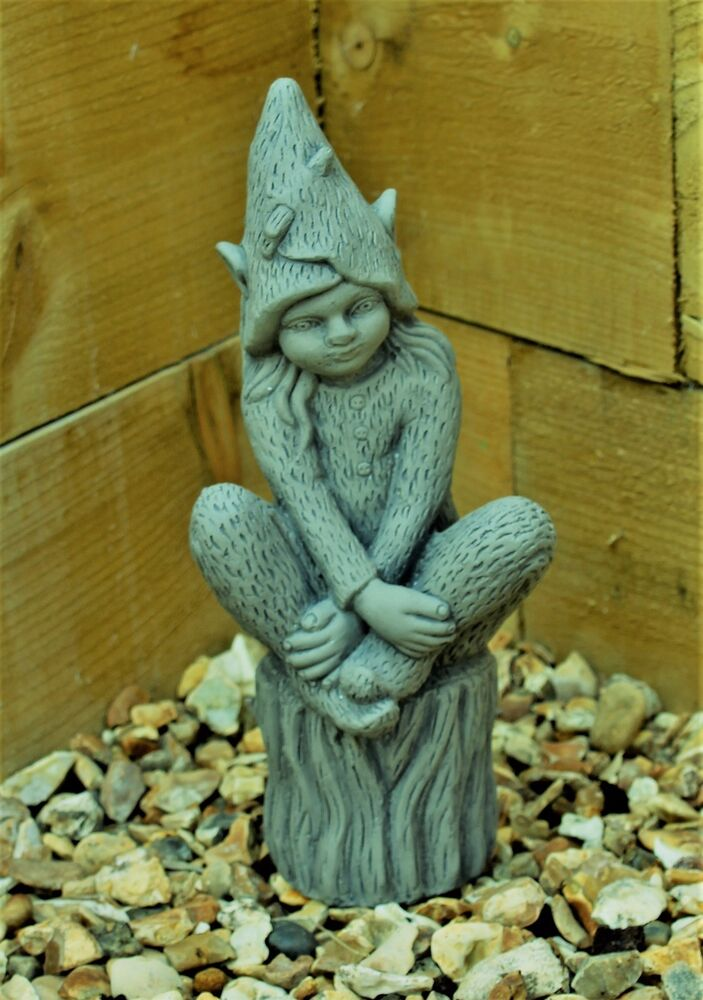 Pixie fairy garden ornament decor gargoyle sculpture stone statue decorative - Statue decorative interieur ...
