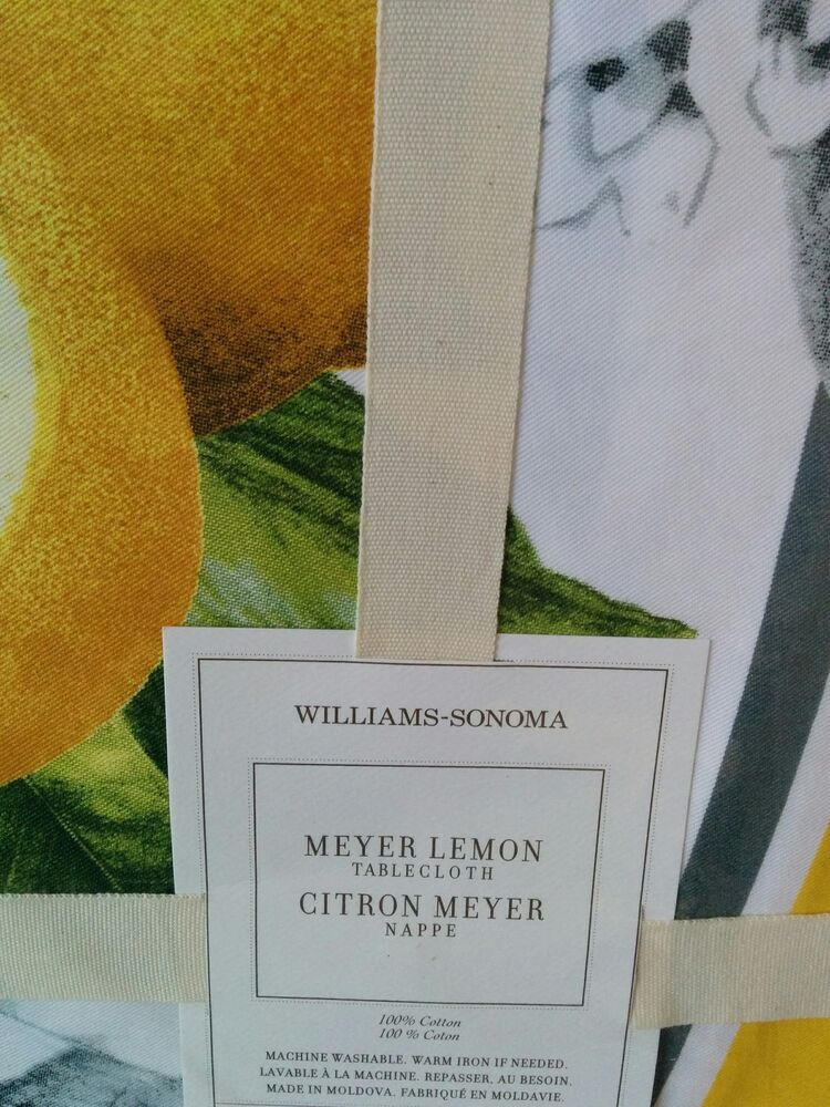 New WILLIAMS SONOMA Meyer Lemon 70 X 120 Tablecloth | EBay
