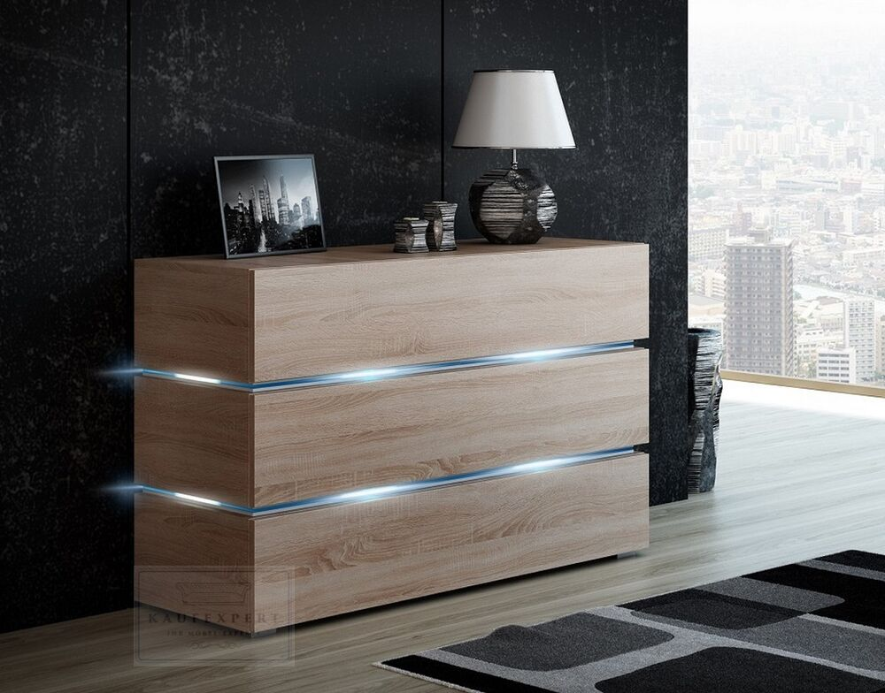 sideboard shine sonoma eiche kommode anrichte wohnwand galaxy highboard sigma ebay. Black Bedroom Furniture Sets. Home Design Ideas