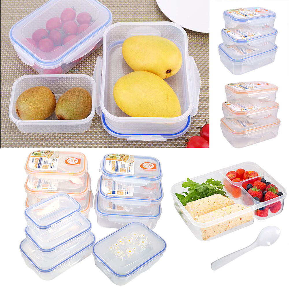 lunch box food containers plastic takeaway microwave. Black Bedroom Furniture Sets. Home Design Ideas