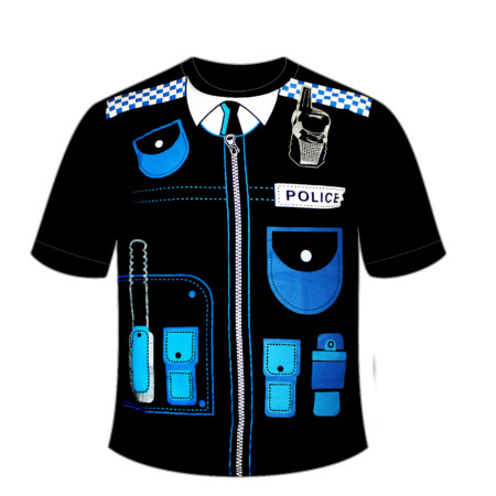 img-BLACK FANCY DRESS POLICE FORCE SWAT T SHIRT STUDENT SERVICES STAG PARTY UNIFORM