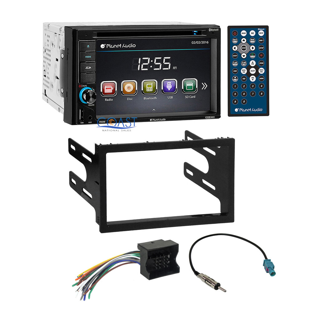 planet audio car dvd bluetooth radio dash kit harness for. Black Bedroom Furniture Sets. Home Design Ideas