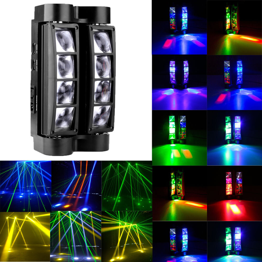 8x10w rgbw 80w spider beam stage lighting moving head dmx disco dj party lights ebay. Black Bedroom Furniture Sets. Home Design Ideas
