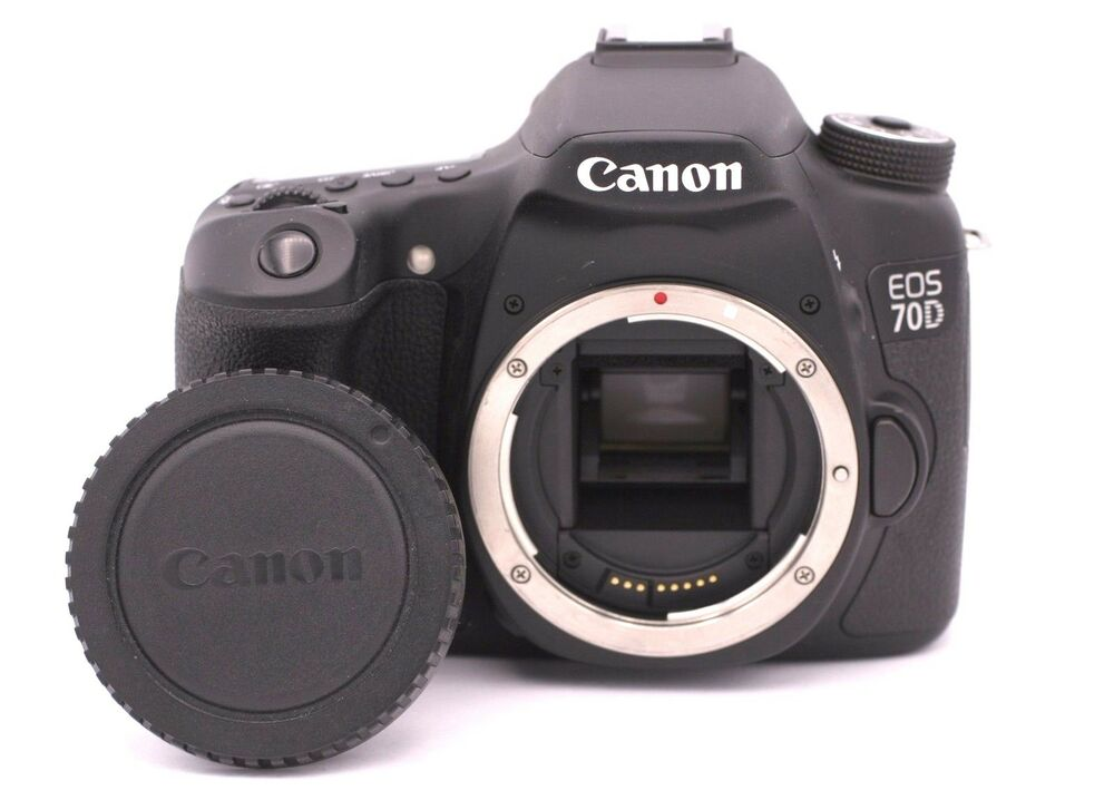 canon eos 70d 20 2mp digital slr camera black body only shutter count 852 13803221596 ebay. Black Bedroom Furniture Sets. Home Design Ideas
