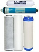 Reverse Osmosis Replacement Water Filters for 5 Stage RO Systems + RO Membrane