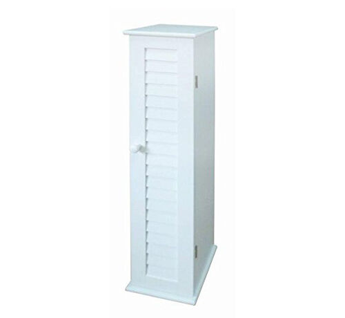 Narrow Storage Tall Free Standing Bathroom Bedroom White Shelf Cabinet Slim Unit 4353423236980