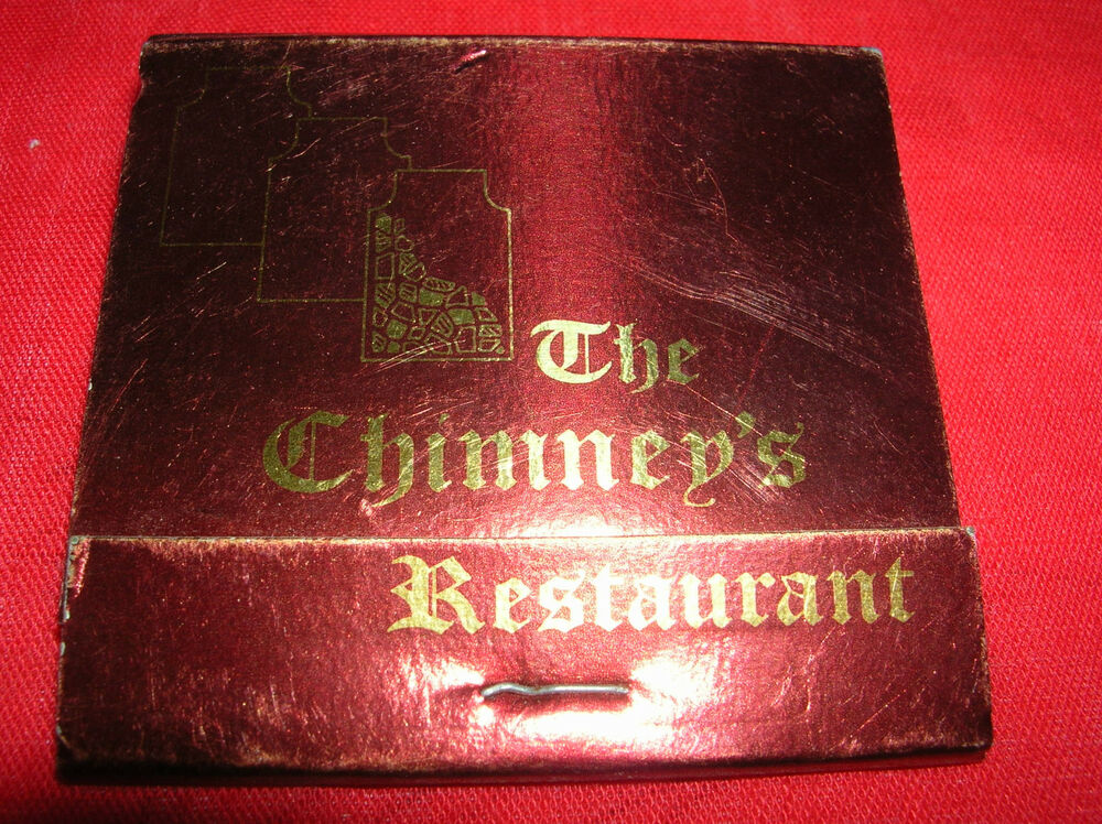 Details about Matchbook Vintage THE CHIMNEY'S Restaurant Glendale AZ Matches  MATCH COVER