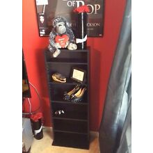 Black mini BOOKSHELF GREAT CONDITION (attaches to the wall)