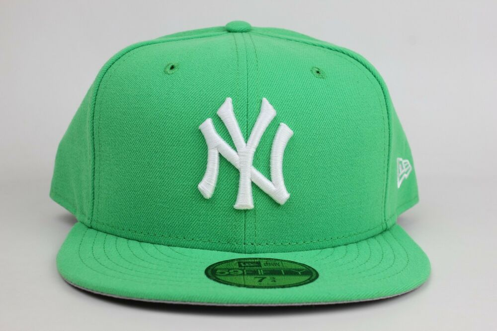 b5620468bbcd4 Details about New York Yankees Island Green White Logo New Era 59Fifty  Fitted Hat Cap