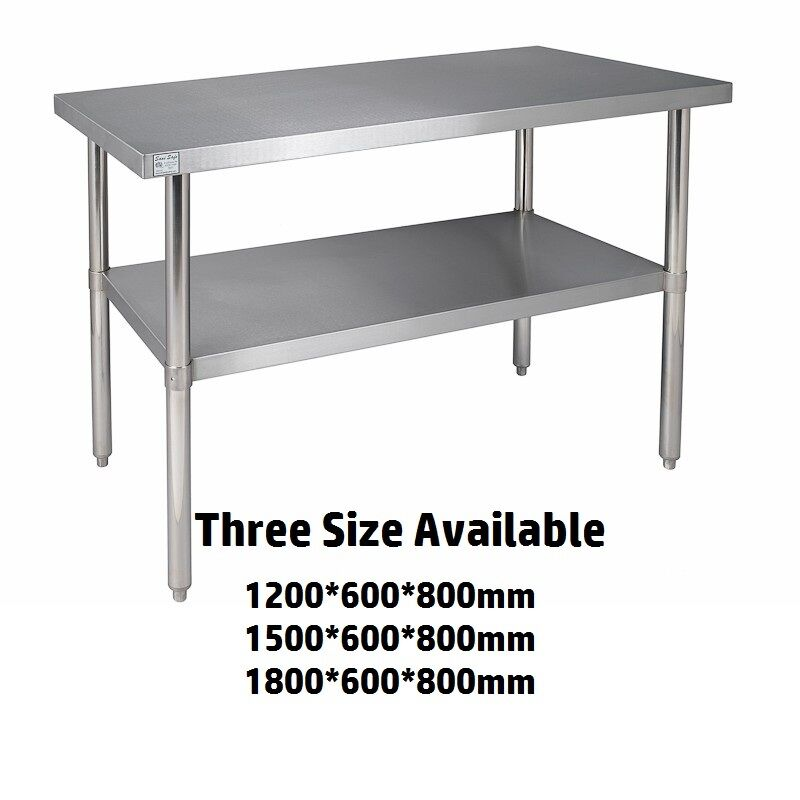 Commercial Stainless Steel Kitchen Work Bench Catering