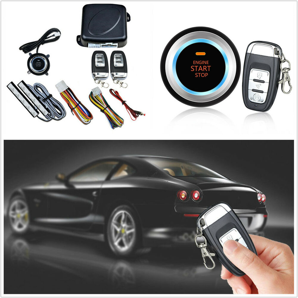 car engine button push start lock ignition starter alarm systems keyless entry ebay. Black Bedroom Furniture Sets. Home Design Ideas
