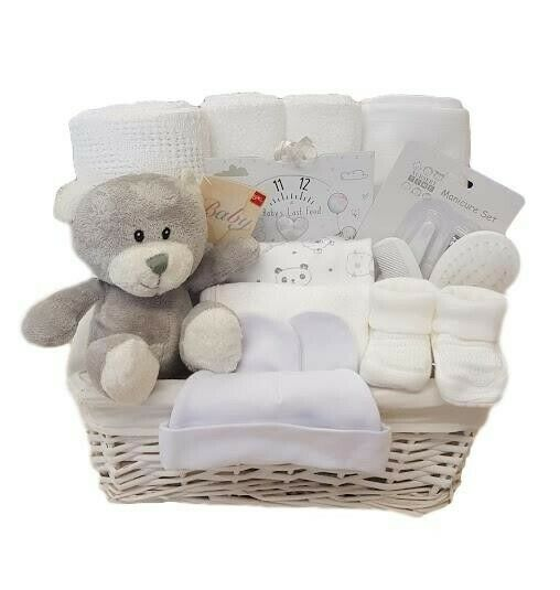 Baby Gift Baskets Delivered Uk : Baby gift basket unisex hamper shower
