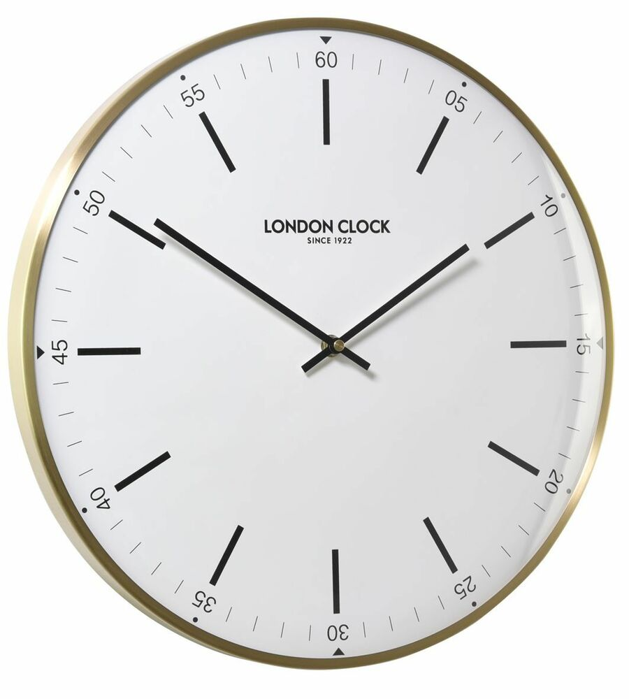 london clock messing 40cm 01211 wanduhr mit batteriebetriebenem quartzwerk ebay. Black Bedroom Furniture Sets. Home Design Ideas