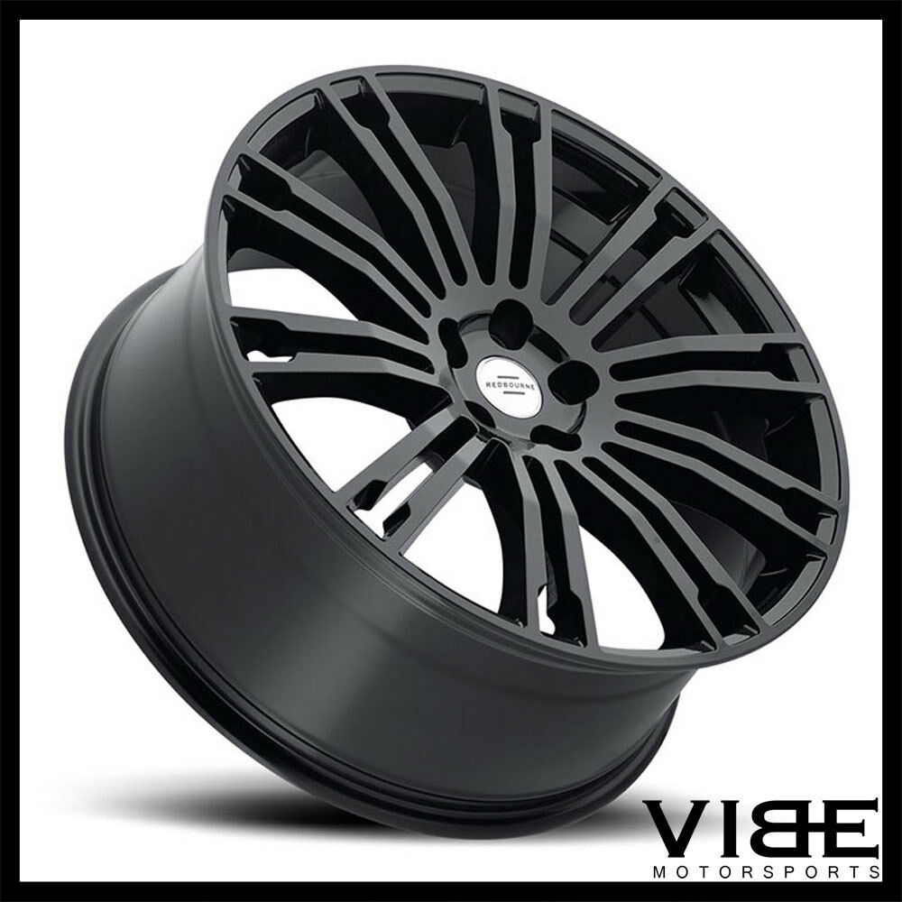 "20"" REDBOURNE MANOR MULTISPOKE GLOSS BLACK WHEELS RIMS"