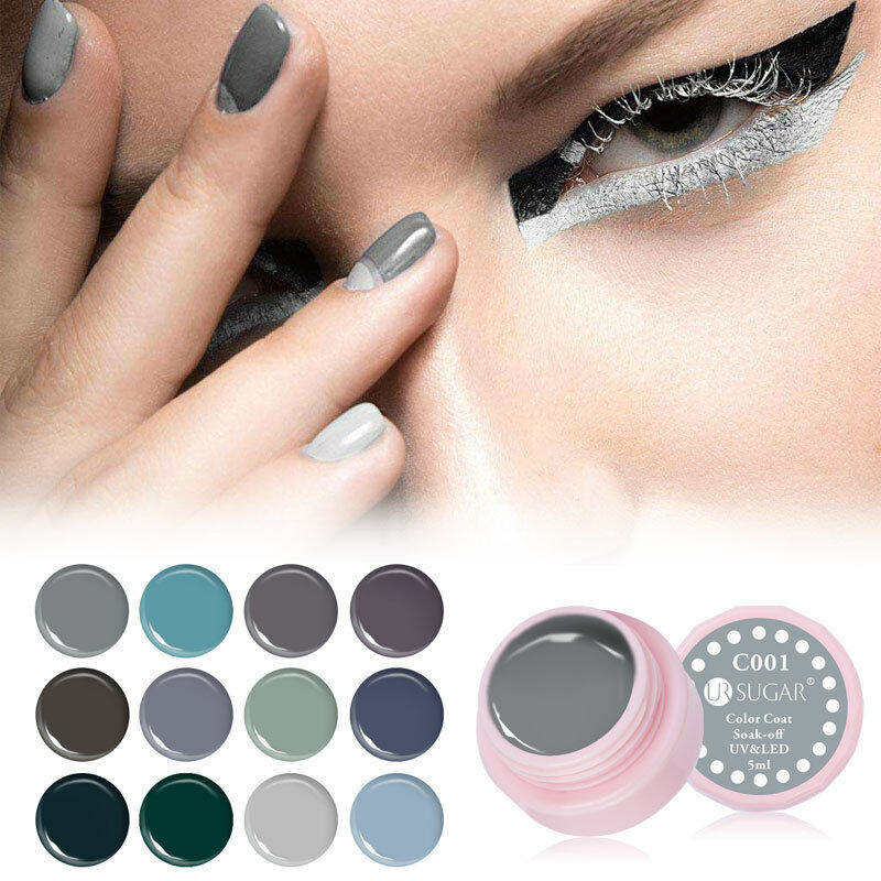 Grey Series UV Soak Off Gel Paint Drawing UV & LED Nail Art Gel Polish DIY  | eBay