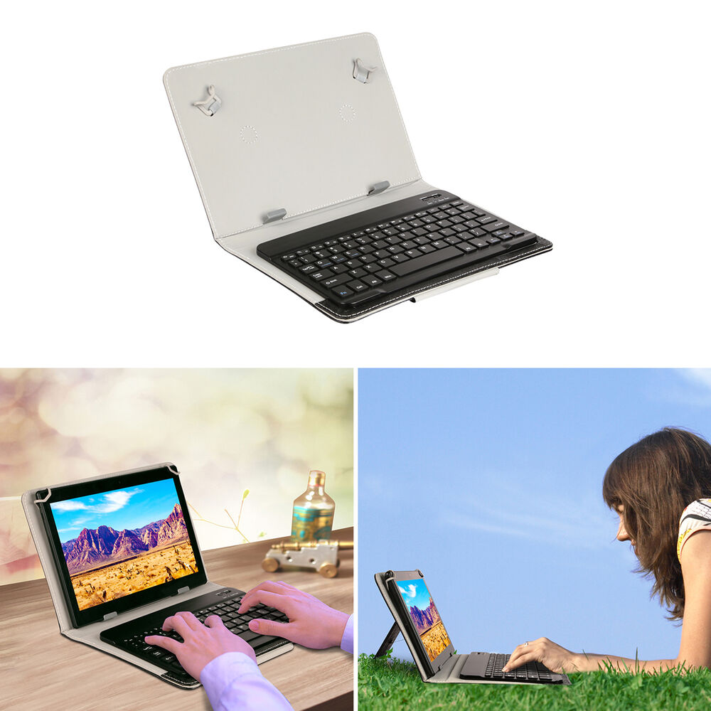 bluetooth or usb keyboard cases for android tablet 8 39 39 9 39 39 10 39 39 10 1 39 39 ebay. Black Bedroom Furniture Sets. Home Design Ideas
