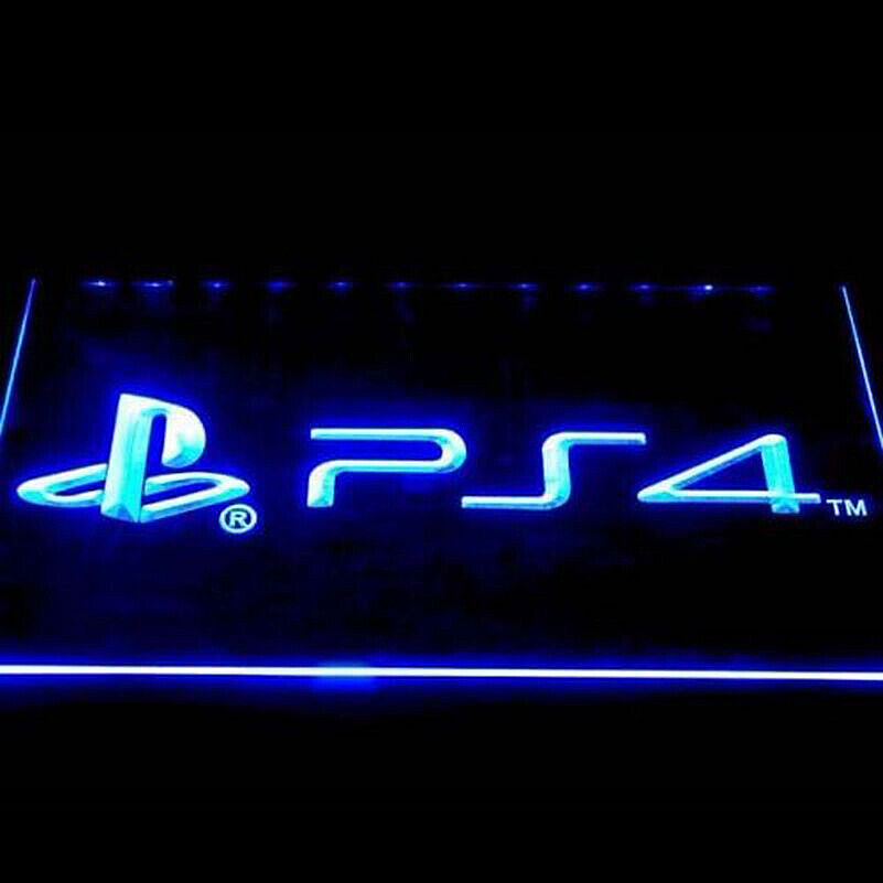 Led Sign Home Decor: PS4 Neon Sign LED Playstation Home Decor Wall Night Light