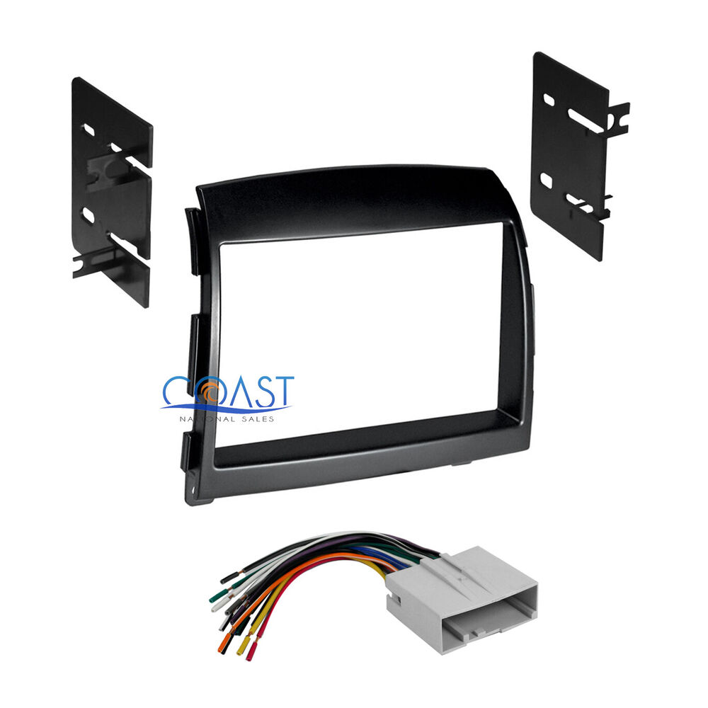 car radio stereo double din dash kit wire harness for 2006. Black Bedroom Furniture Sets. Home Design Ideas