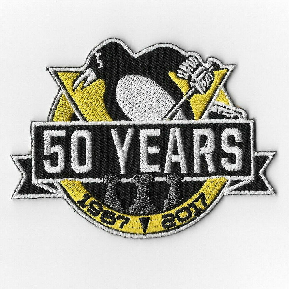 Eishockey NHL Patch Aufnäher Anniversary Patch Pittsburgh Penguins 50 Years Fanartikel