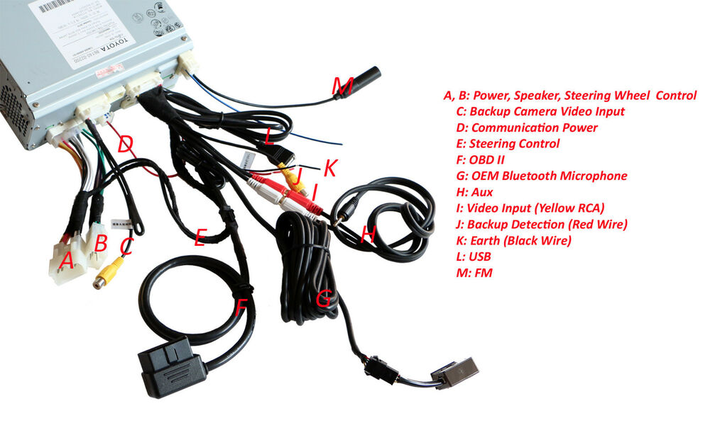 s l1000 premium wiring harness toyota corolla cd usb aux av bluetooth obd Toyota Stereo Wiring Diagram at panicattacktreatment.co