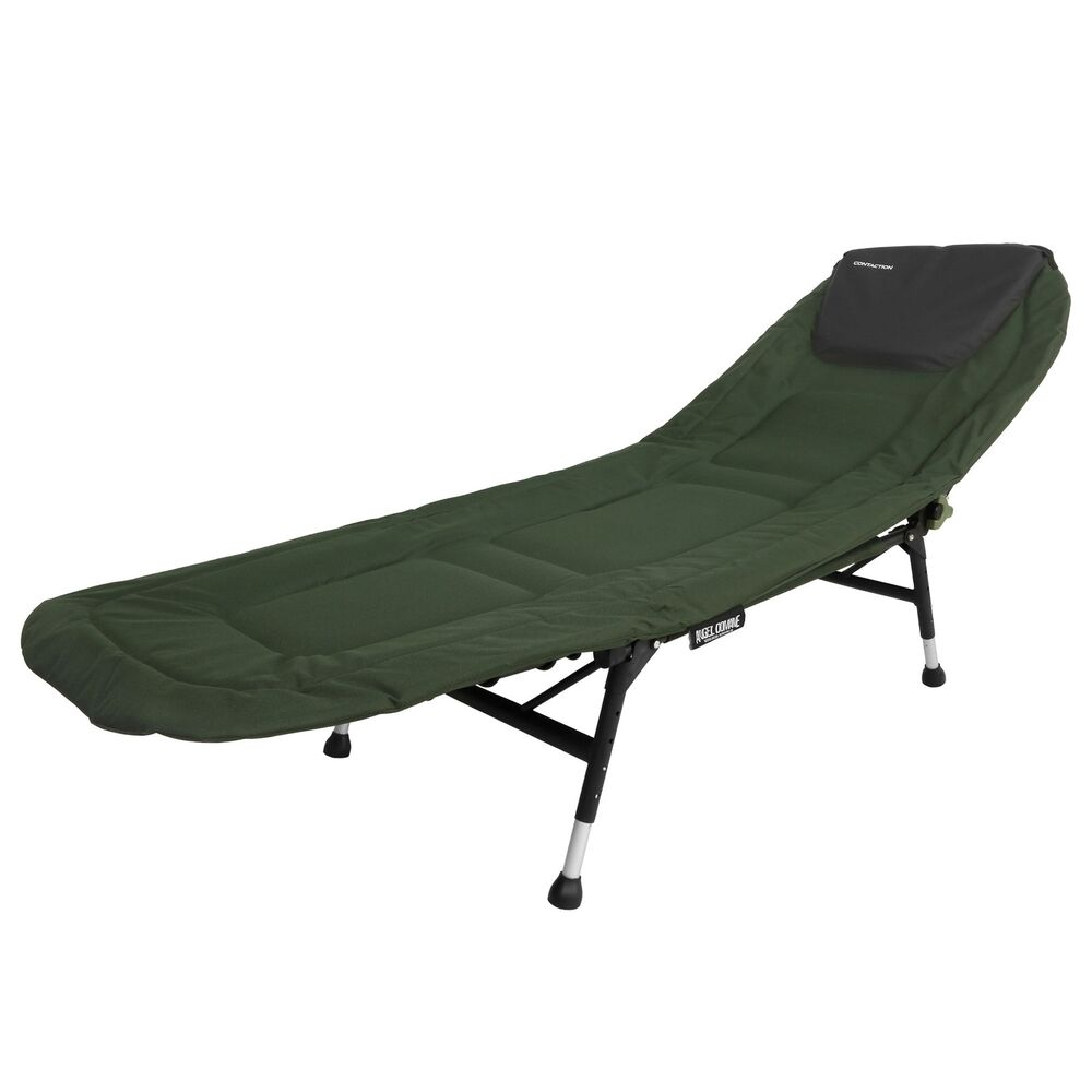 karpfenliege contaction bedchair 4 bein feldbett relax angler liege 195x64cm ebay. Black Bedroom Furniture Sets. Home Design Ideas