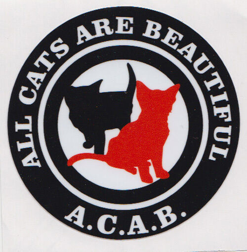 ACAB (ALL CATS ARE BEAUTIFUL) PVC AUFKLEBER (MBRPVC017)