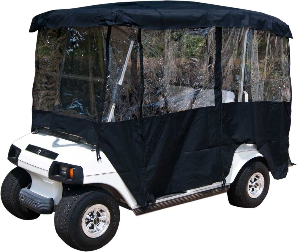 black rain cover enclosure for golf cart w back seat. Black Bedroom Furniture Sets. Home Design Ideas