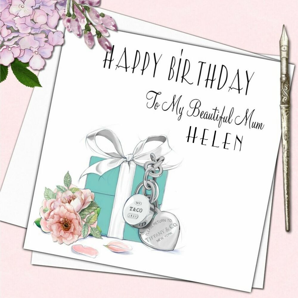 Details About Personalised Tiffany Birthday Card Female Mother Daughter Friend Sister 18th 21s