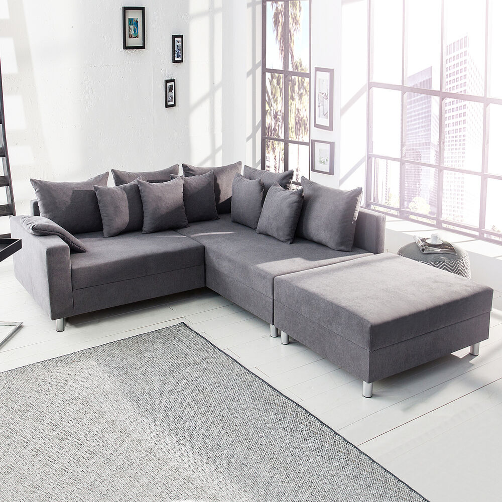 design ecksofa loft xl sofa wohnlandschaft couch couchgarnitur wohnzimmer ebay. Black Bedroom Furniture Sets. Home Design Ideas