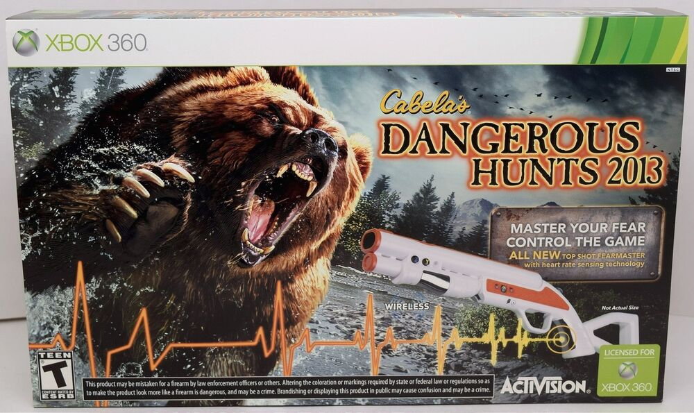 Hunting Games For Xbox 360 : New xbox cabela s dangerous hunts hunting game