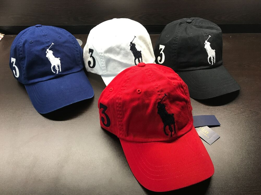 f3bd2957 Details about NEW Polo Ralph Lauren Baseball Cap Hat Big Pony Adjustable  LEATHER Strap