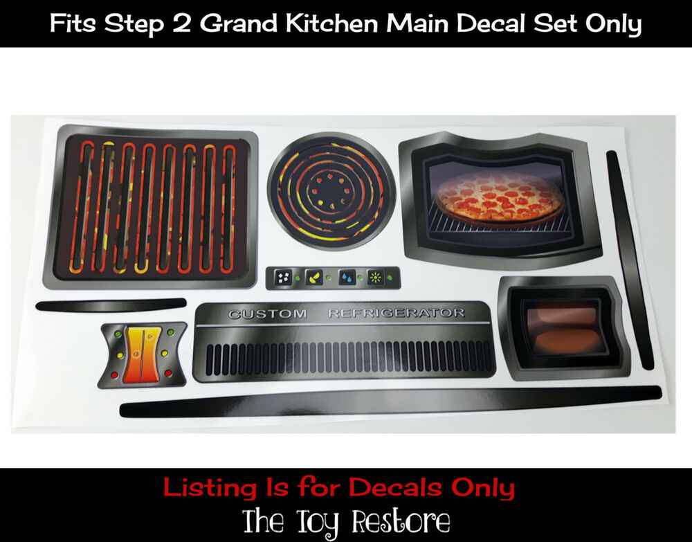 New replacement decals stickers fits new step 2 grand walk in kitchen main set 671635878922 ebay