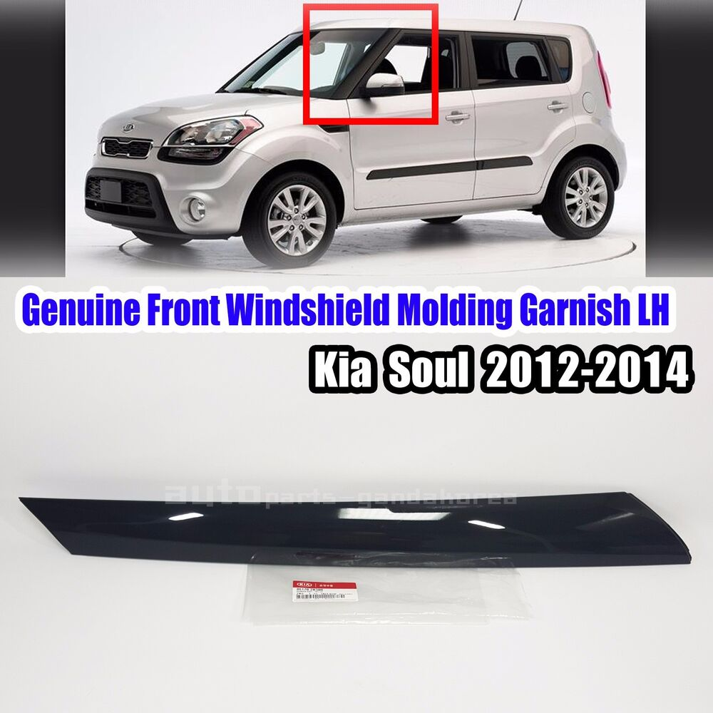 Details About 861702k500 Front Windshield Pillar Molding Garnish Left For Kia Soul 2017