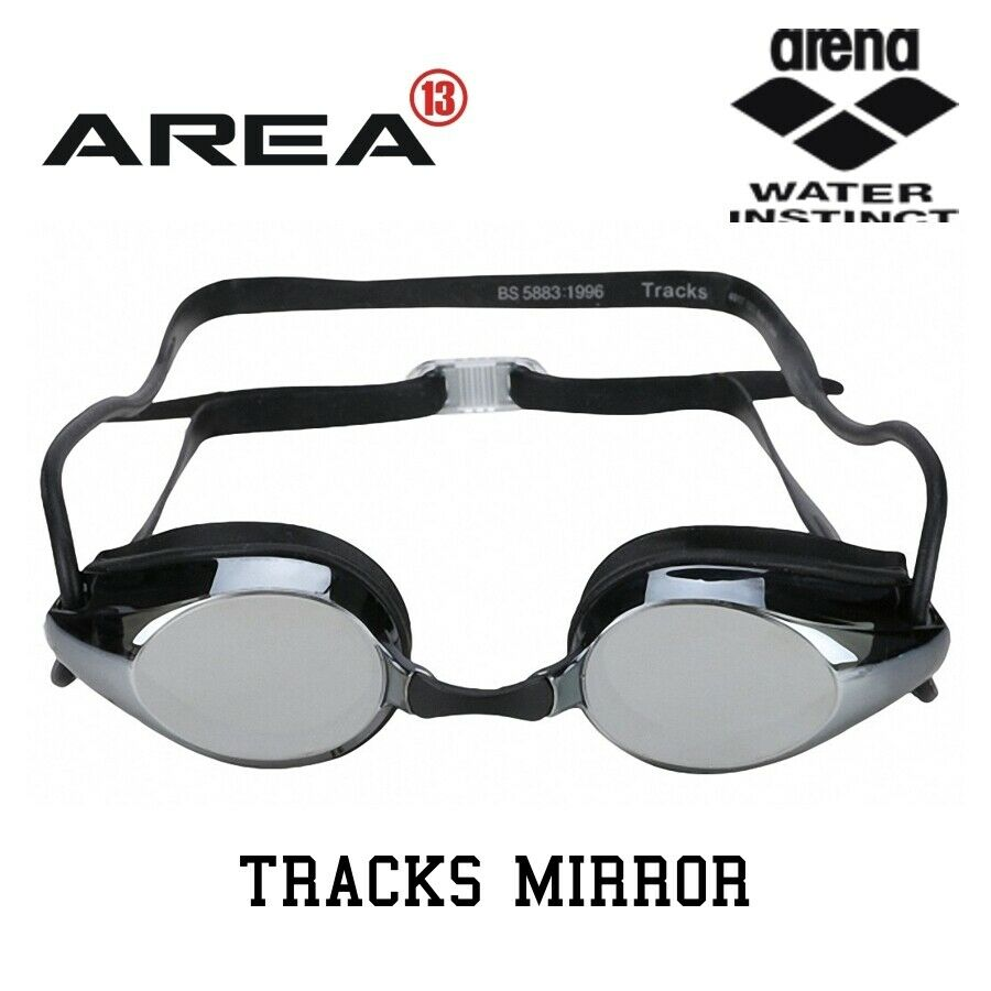 57ff022920 Details about ARENA TRACKS RACING SWIMMING GOGGLES
