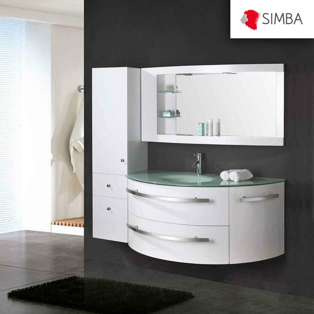 mobile bagno colonna completo 120 cm lavabo rubinetti inclusi arredobagno ebay. Black Bedroom Furniture Sets. Home Design Ideas