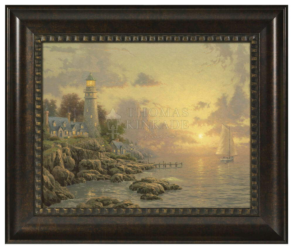 Thomas kinkade summer home decor sea of tranquility 16 x - Home interiors thomas kinkade prints ...